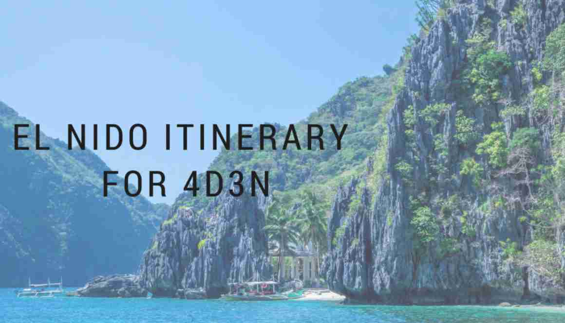 ultimate el nido itinerary for 4 days and 3 nights